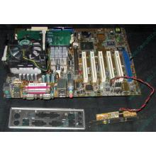 Материнская плата Asus P4PE (FireWire) с процессором Intel Pentium-4 2.4GHz s.478 и памятью 768Mb DDR1 Б/У (Норильск)